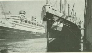 Nieuw Amsterdam  1938 New York spring 1940 together with sloterdyk