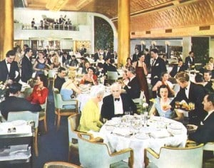 Nieuw Amsterdam first class dining saloon color