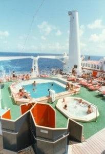 Nieuw Amsterdam 1983 Navigation Deck pool