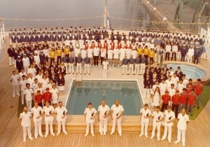 Nieuw Amsterdam 1983 first crew