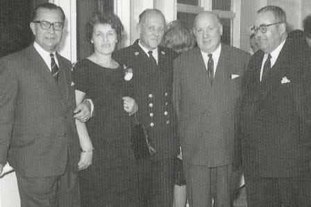 Mrs. Reedijk next to the Captain