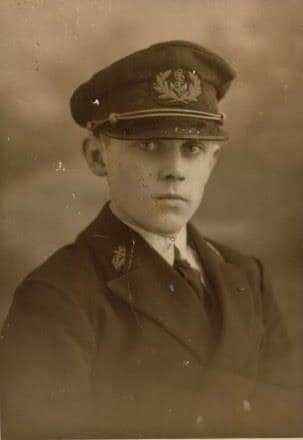 As Maritime Cadet in 1930