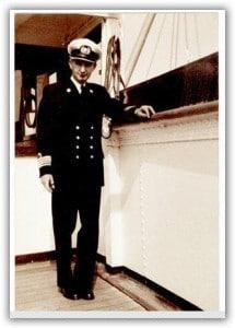 Captain van der sluys. Seen here on the Arkeldyk in 1964