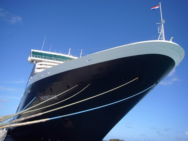 "The ""geusje"" on the bow of the ms Noordam"