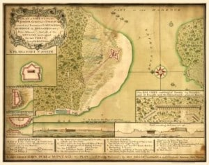 A view of the Boca Chica entrance from an ancient map
