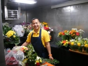 Mr. Rustadi, the ships florist on board the ms Rotterdam.