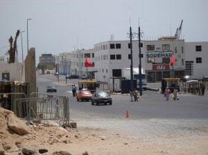 The entrance to Agadir Port