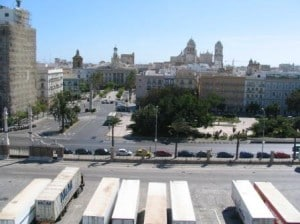 I am not posting a photo of Cadiz in the rain. So here from my previous visit with the Prinsendam, when Spain looked like Spain.