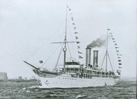 One of the earliest  ships built as a cruise only vessel. The Prinzessin Victoria Luise from 1899