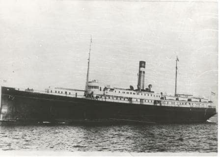 The ss Warszawa as she looked when entering service for Holland America  with the main deck extended.