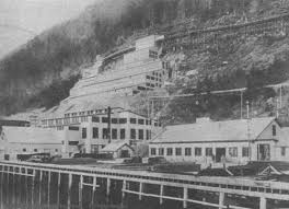 The way it was long time ago when the mine stretched down all the way to the water.