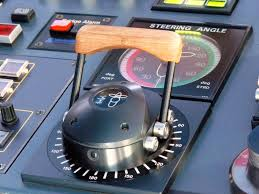 The bridge conttrol of the pod. The black knob turns 360o for the Pod and the handle provides the amount of thrust.