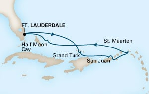 As mentioned yesterday, this cruise is calling at St.Maarten instead of St. Thomas.