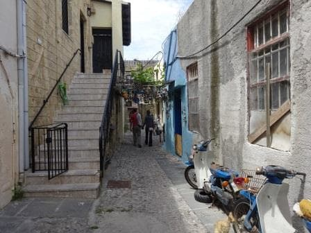 This is the back street of the main tourist street and only 30 feet away behind the rows of shops.
