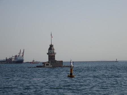 Famous Landmark when sailing in. James Bond sailed a Submarine under it, we sailed around it.