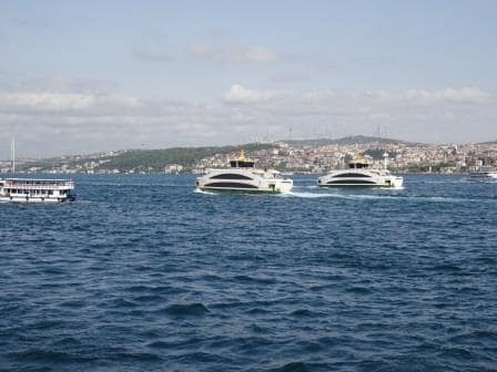 Four ferries in one snap shot taken while we were docking yesterday. And lots more outside the edge of the camera lens