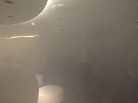 A foggy day in the Officer Bar. Stage Smoke in use to create an area on fire.