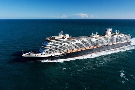 Sea Trials in Feb. 2016. The captain was very happy with how the ship handled. (Photo courtesy Holland America Line)