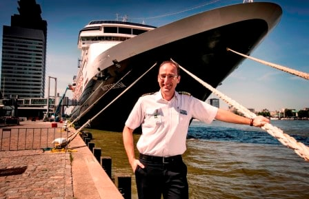 Captain Marco Carsjens in command of the ms Rotterdam. Sixth ship of that name in our fleet.