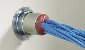 If a new cable has been pulled and it goes through a fire proof bulkhead then the penetration closure needs to be of the same standard.