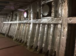 Insulation in the side of the ship. You do not see it but it helps to keep your cabin safe and insulated.